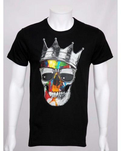 07fda7db12f5f T-shirt tête de mort  King .