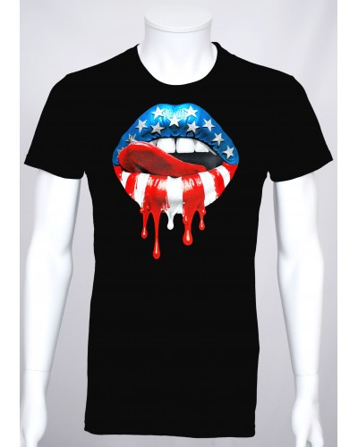 T-shirt Pop Art 'Kiss USA'...