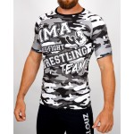 Top compression Rashguard camouflage - vue 3/4 face