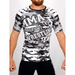 Top compression Rashguard camouflage - vue face