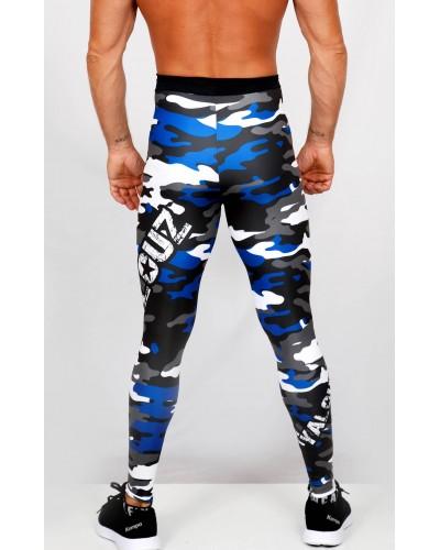 Legging fuseau Homme Sport 'Camouflage' Bleu/blanc - vue dos