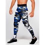 Legging fuseau Homme Sport 'Camouflage' Bleu/blanc - 3/4 face
