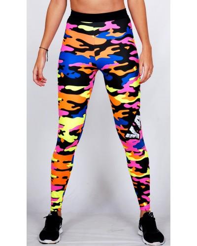 Legging Fuseau Femme Sport 'Camouflage' multicolor - vue face