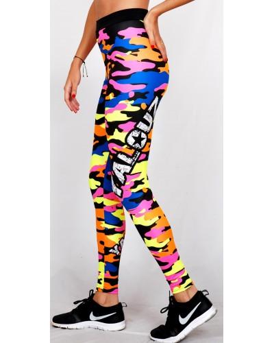 Legging Fuseau Femme Sport 'Camouflage' multicolor - vue cote